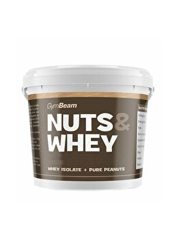 Unt de arahide Nuts & Whey Gymbeam 1000 g vanilie de la GymBeam