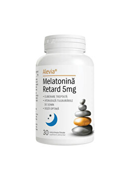 Melatonina Retard 5mg, 30 cp Alevia