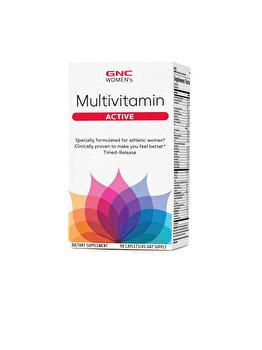 Supliment Alimentar GNC Women's Multivitamin Active, Complex de Multivitamine Pentru Femei, 90 tb GNC