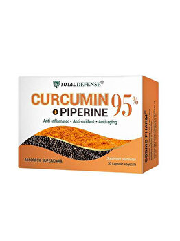 Supliment alimentar Total Defense Curcumin Piperine 95% 30 capsule de la Total Defense