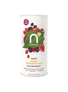 Pulbere proteica Superprotein Acai Strawberry Organic, 210 g de la Naturya