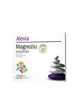 Magneziu cu stevie orosolubil Alevia 20 plicuri de la Alevia