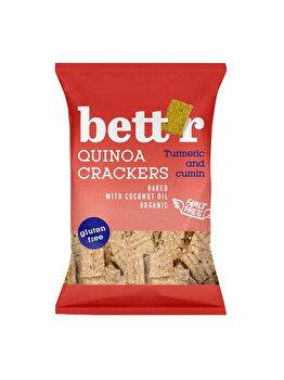 Crackers cu quinoa si susan Bettr fara gluten bio, 100 g de la Bettr