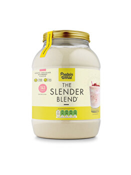 The Slender Blend - Ciocolata alba si zmeura ( 1.2 kg ) Protein World