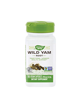 Supliment alimentar Nature's Way by Secom Wild Yam 425mg 100 capsule vegetale