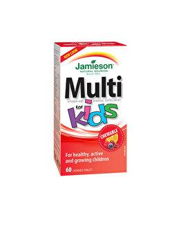 Complex de vitamine si minerale pentru copii Jamieson multi kids cu fier 60 de tablete masticabile de la Jamieson