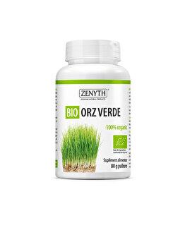 Supliment alimentar pentru detoxifiere și sănătatea inimii Zenyth Bio Orz Verde 80 g pulbere de la Zenyth