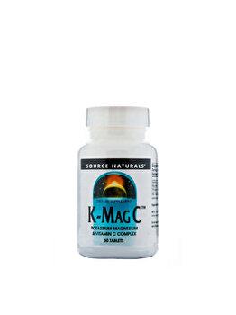 Source Naturals K-Mag C - Magneziu, potasiu si Vitamina C - 60 Comprimate de la Source Naturals