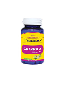 Supliment alimentar Herbagetica Graviola 60 capsule Herbagetica