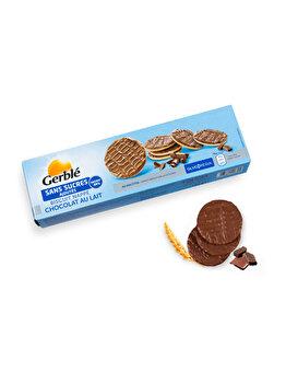 Biscuiti glazurati ciocolata si lapte Glucoregul 125g de la Glucoregul