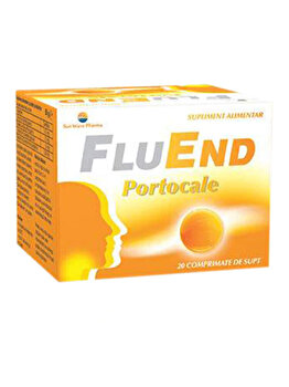 Supliment alimentar Sun Wave Pharma FluEnd Portocale, 20 comprimate de supt de la Sun Wave Pharma
