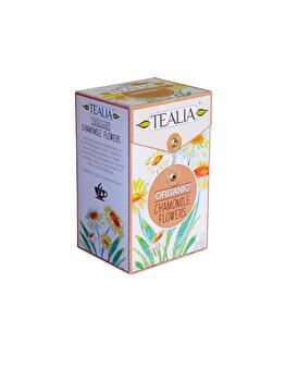 Ceai Tealia by Secom Organic Chamomile 20 plicuri piramida x 2g de la Tealia by Secom