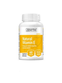 Supliment alimentar pentru protejarea celulelor împotriva stresului oxidativ Zenyth Natural Vitamin E 60 capsule x13,5 mg de la Zenyth