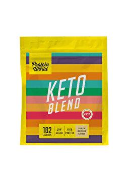 Shake proteic Protein World Keto Blend Vanilla Ice Cream High protein Low sugar, 520 g de la Protein World