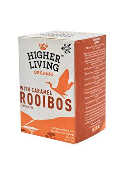 Ceai rooibos si caramel Higher Living bio 20 dz, 40 g