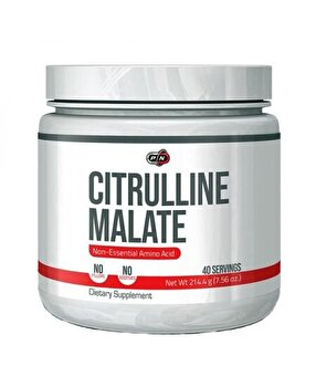 Pure Nutrition USA Citrulline Malate, Citrulina Malat, 214 grame, 5 grame doza, Oxid Nitric Pure Nutrition USA