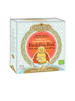 Ceai premium budha box Hari Tea cutie cu toate cele 11 ceaiuri hari tea bio, 11 dz de la Hari Tea