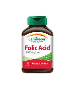 Supliment alimentar prenatal Jamieson acid folic 1mg x 100 tablete de la Jamieson