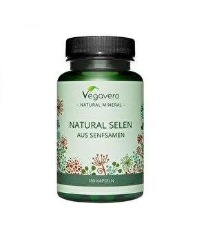 Vegavero Natural Seleniu, 100 mcg, 180 Capsule Vegavero