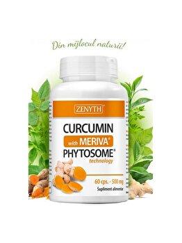 Supliment alimentar cu turmeric în formă fitozomală Zenyth Curcumin with Meriva 60 capsule x 500 mg de la Zenyth