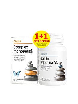 Complex menopauza + Calciu vitamina D3 Alevia 30+40 comprimate Alevia