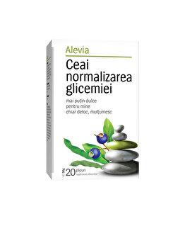 Ceai normalizarea glicemiei Alevia 20 plicuri poza