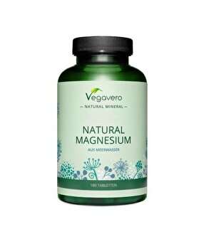 Vegavero Natural Magneziu 300 mg 180 Tablete Vegavero