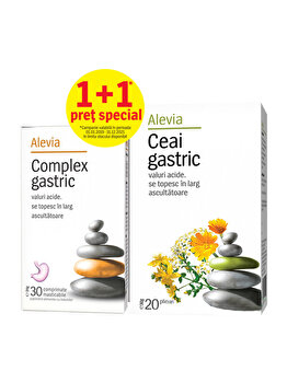 Complex gastric + Ceai gastric Alevia 30+20 plicuri de la Alevia