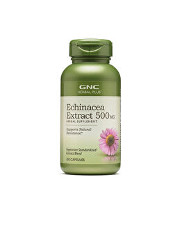 Supliment Alimentar GNC Herbal Plus® Echinacea Extract 500 mg, Extract de Echinaceea, 100 cps GNC