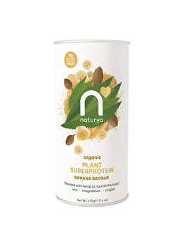 Pulbere proteica Superprotein Baobab Banana Organic, 210 g de la Naturya