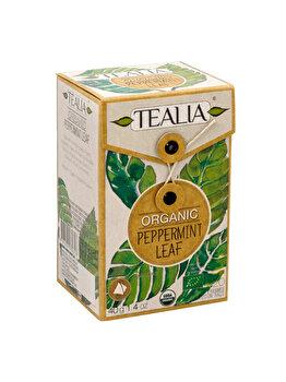 Ceai Tealia by Secom Organic Peppermint 20 plicuri piramida x 2g