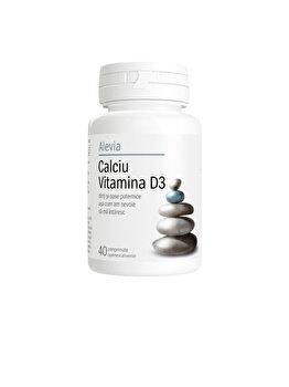 Calciu Vitamina D3 Alevia 40 comprimate de la Alevia