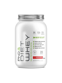 Amestec proteic PhD Diet Whey Strawberry Delight, 500 grame PhD