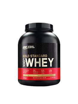 100% Proteina din zer Optimum Nutrition Whey Gold Standard Caramel Toffee Fudge 2260g de la Optimum Nutrition