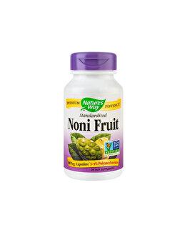 Supliment alimentar Nature's Way by Secom Noni Fruit SE 500mg 60 capsule vegetale de la Nature's Way by Secom