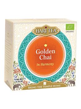 Ceai premium in harmony Hari Tea golden chai bio, 10 dz