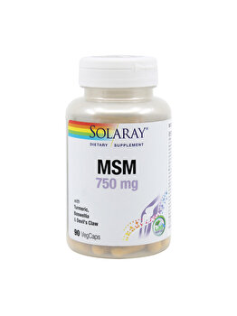 Supliment alimentar Solaray by Secom MSM 750mg 90 capsule vegetale de la Solaray by Secom