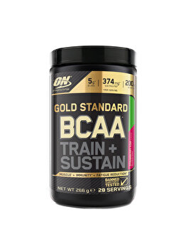 Aminoacizi Gold Standard Optimum Nutrition BCAA Train + Sustain Strawberry Kiwi 266g