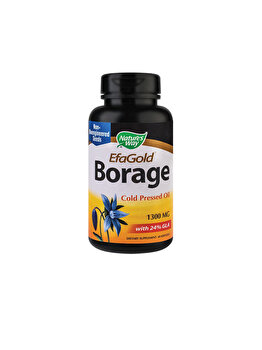 Supliment alimentar Nature's Way by Secom Borage EfaGold 1300mg 60 capsule moi de la Nature's Way by Secom