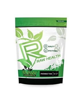 Raw Powders Phenibut FAA pulbere 50 grame, gandire clara, stres, anxitate, depresie, nootropic Raw Powders