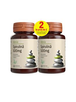 Spirulina 500 mg Alevia pachet 30+30 comprimate de la Alevia