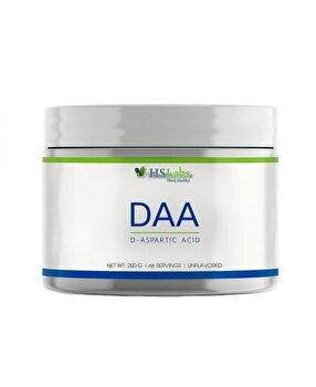 HS Labs DAA, D-Aspartic Acid pulbere 200 grame de la HS Labs