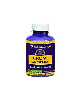 Supliment alimentar Herbagetica Crom complex 120 capsule de la Herbagetica