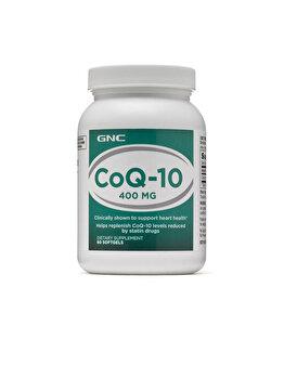 Supliment Alimentar GNC CoQ-10 400 mg, Coenzima Q-10, 60 cps de la GNC