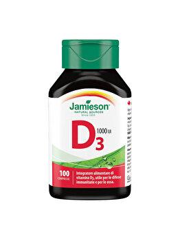 Vitamina D3 1000UI, 100 Tablete, 2200, Jamieson de la Jamieson