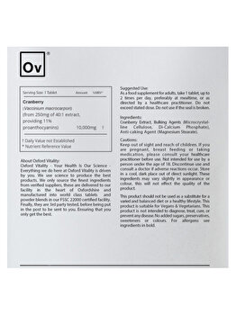Supliment alimentar Oxford Vitality Merisor Ultra 10000 mg, 120 tablete de la Oxford Vitality