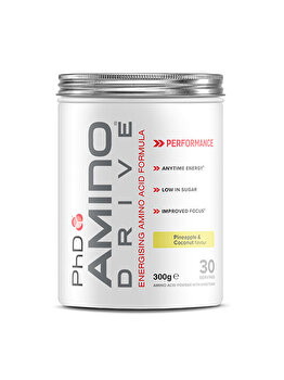 Mix de aminoacizi PhD Amino Drive Pineapple & Coconut, 300 grame PhD