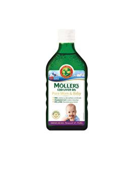 Ulei din ficat de cod Moller's Omega 3 Pure Mom & Baby, 250ml de la Moller's