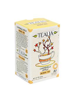 Ceai Tealia by Secom Chamomile Apple 20 plicuri piramida x 2g
