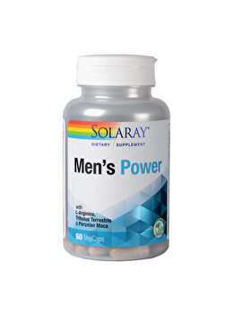 Supliment alimentar Solaray by Secom Men's Power flacon cu 60 capsule vegetale Solaray by Secom